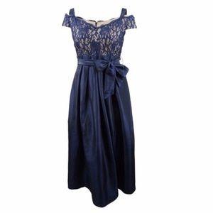 R&M Richards Cold Shoulder Prom Dress Size 14